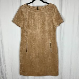 Gorgeous faux suede dress in tan